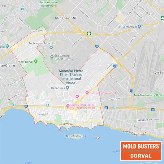 Dorval Quebec carte
