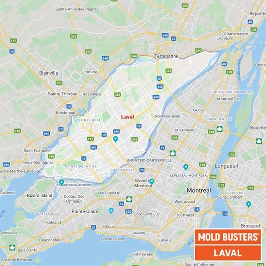 Laval Quebec carte