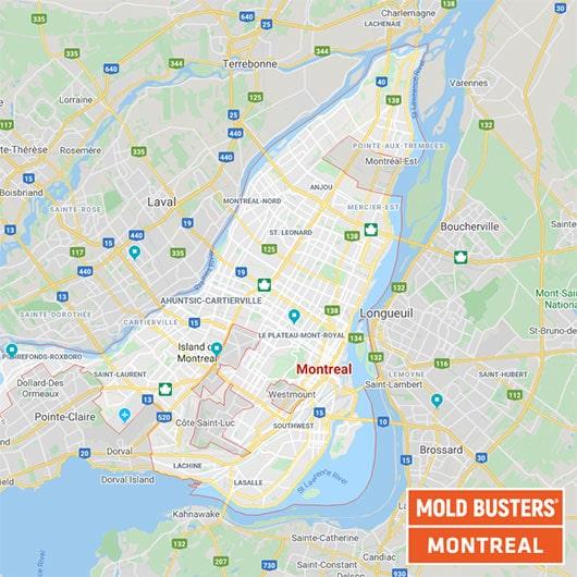 Montreal Quebec carte
