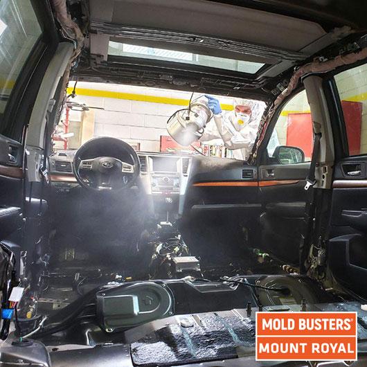 Remise en état des voitures - buée - Mont Royal