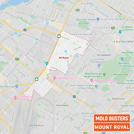 Mount Royal Quebec carte