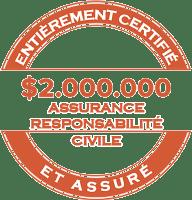 Entierement certifie et assure liabiity