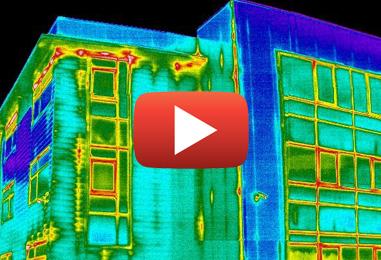 Inspection d'enveloppe de bâtiment par caméra infrarouge