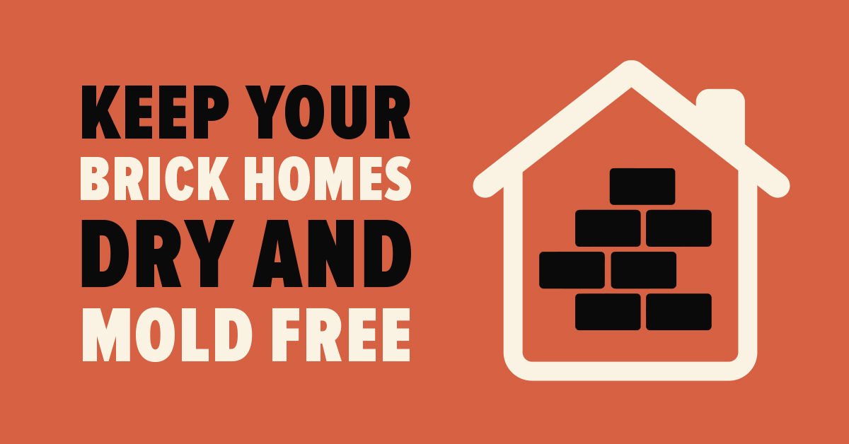 Keep Your Brick Homes Dry and Mold Free