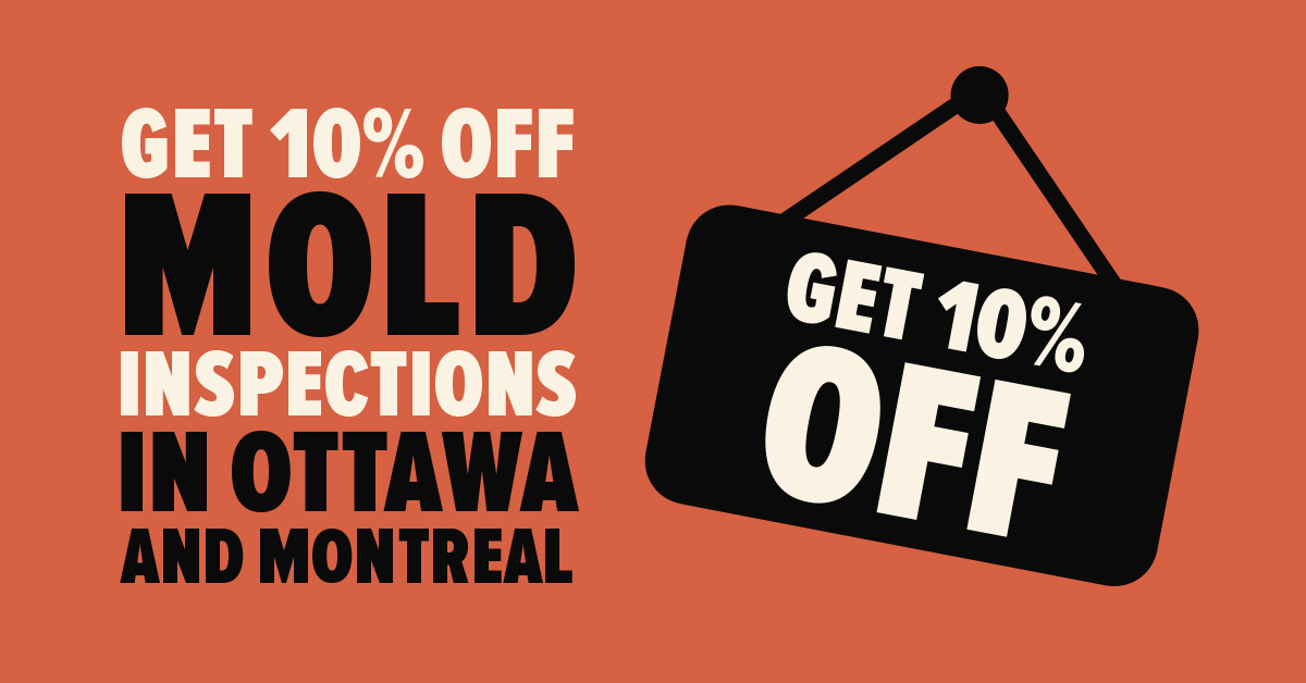 Get 10% off Mold Inspections in Ottawa and Montreal