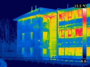 Energy Loss through Building Envelope - Thermal Imaging Scans