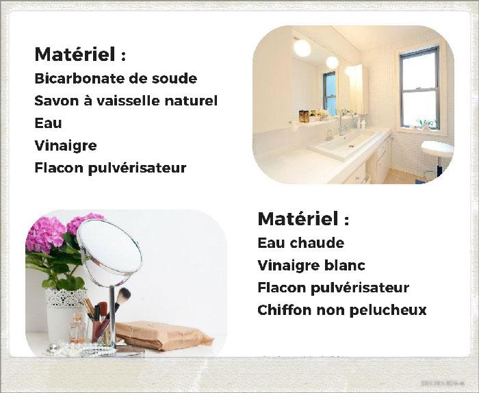 comment nettoyer salle de bain vanité