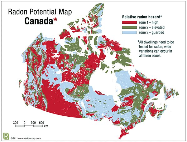 Radon Levels in Canada - High-Risk Regions