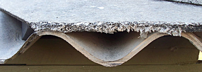 Corrugated asbestos sheets