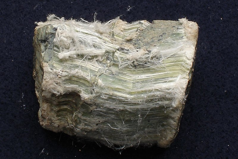 l'amiante blanc chrysotile